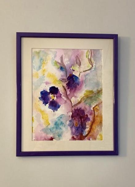 """""""SPIRITUL FLORILOR"""" - tablou în acuarelă"""
